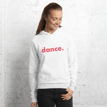 Load image into Gallery viewer, Dance. hoodie for dancers women White and Red