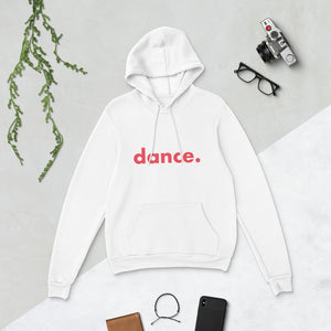 Dance. hoodie for dancers men women White and Red