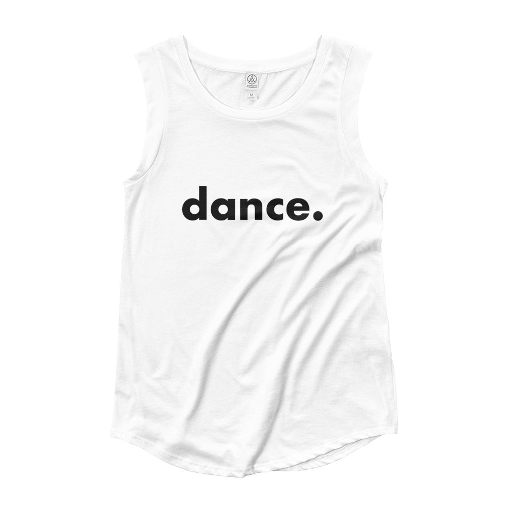 Dance.  tank top for dancers women Black and White