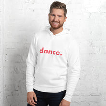 Load image into Gallery viewer, Dance. hoodie for dancers men White and Red