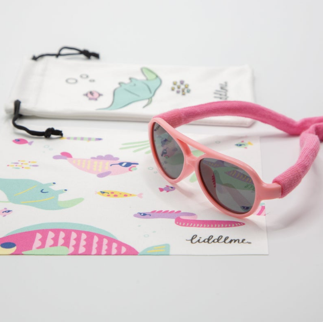 Pink Baby Polarized Sunglasses with Pink Strap