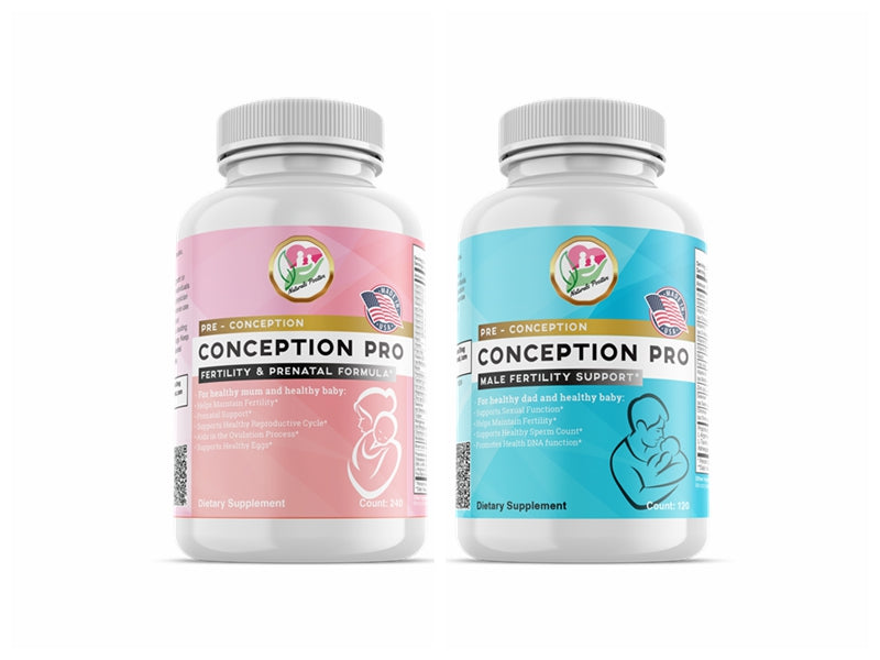 ConceptionPro Male Fertility Support + ConceptionPro Fertility & Prenatal Formula - Positive Naturals
