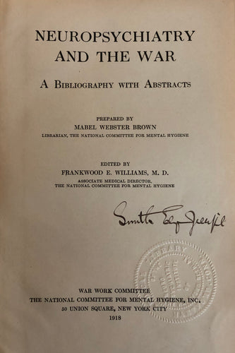 Neuropsychiatry and the war; a bibliography with abstracts