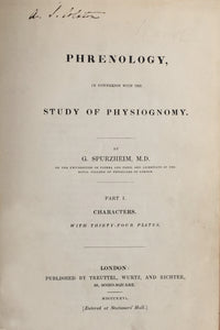 Phrenology, in connexion with the study of physiognomy.