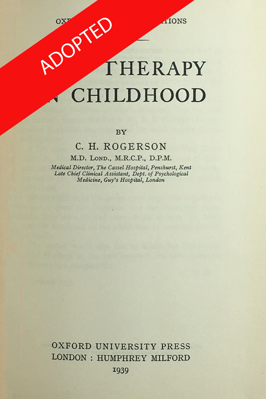 Play Therapy in Childhood
