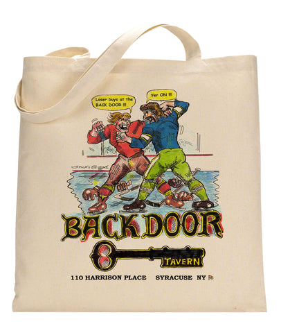 Backdoor Tavern Canvas Tote Bag