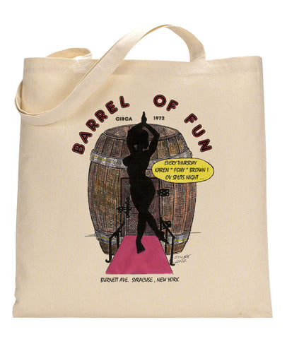 Barrel of Fun Canvas Tote Bag