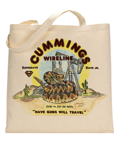 Cummings Wireline Canvas Tote Bag