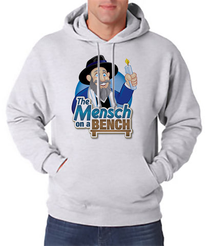 Mensch on a Bench Hooded Sweatshirt