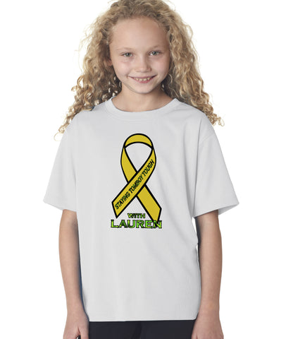 Kicking Cancers Butt Youth Tee Shirt