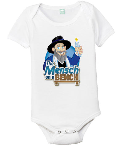 Mensch on a Bench Onesie