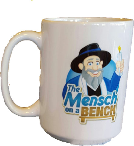 Mensch on a Bench Mug