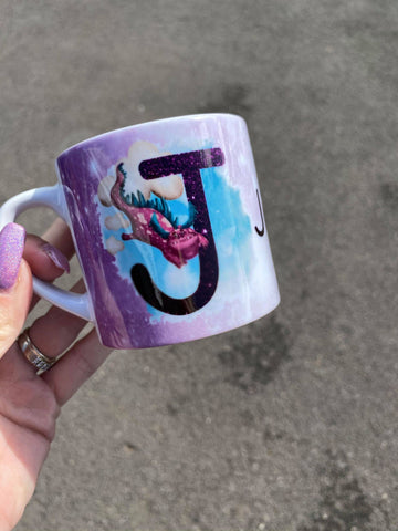 Dragon initial/ name mug