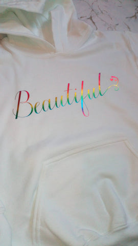 Ladies beautiful hoodie front and back design