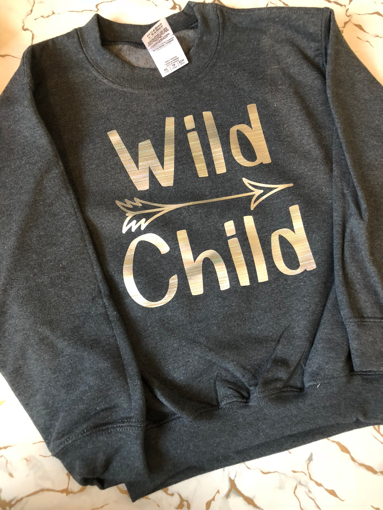 Wild child. Childrens sweater
