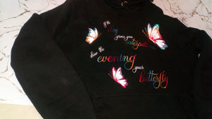 Caterpillar ladies hoodie. Front and back design
