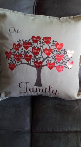 Family tree cushion cover