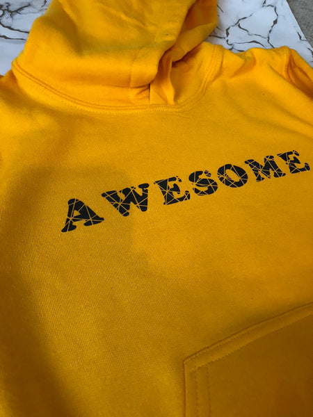"""Awesome"" childrens hoodie"