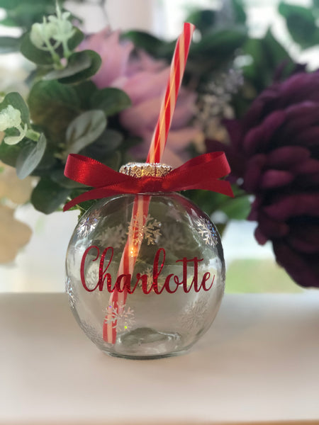 Christmas bauble drinking glass