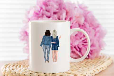 character mug - best friends