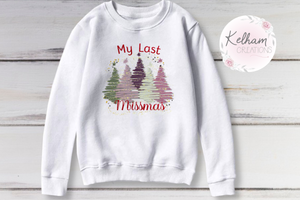my last missmas- multiple trees jumper