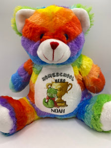 Homeschooling rainbow bear
