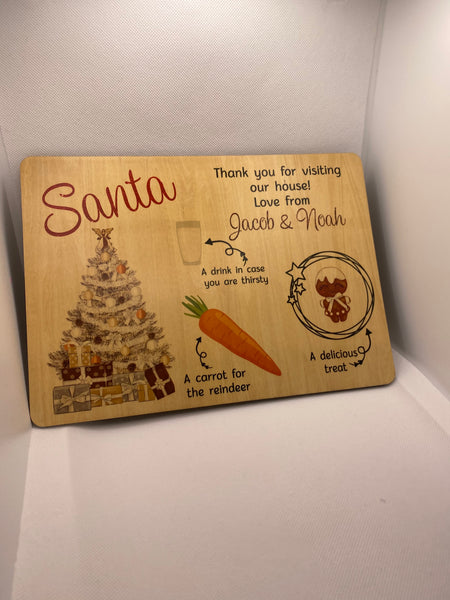 Santa treat board