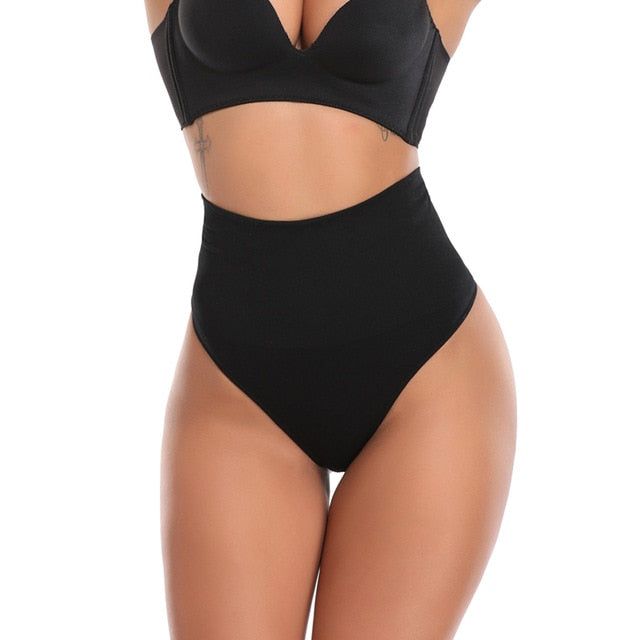 Sexy Women Shapewear Panties Bodysuit Body Shaper High Waist Tummy Control Seamless Strapless Slimming Panty Briefs Black S-3XL