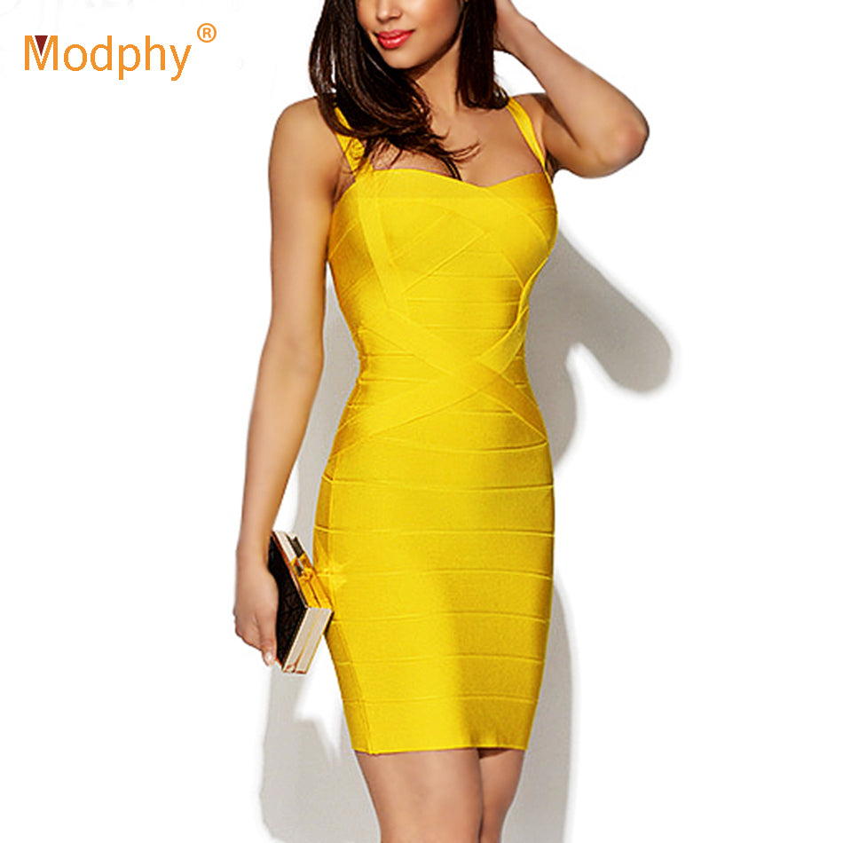2020 New Women Sexy Spaghetti Strap Rayon HL Elastic Celebrity Bandage Dress Bodycon Mini Club Evening Party Dresses Drop Ship