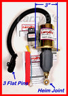 "DODGE Diesel 3"" bolt spacing, 3 flat pins, Fuel Solenoid Kit with Relay and Fusible Link"