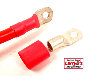 "LarryB's  Pos+ Battery Cable Repair End, Crimp and/or Solder, 2/0 AWG x 3/8""."