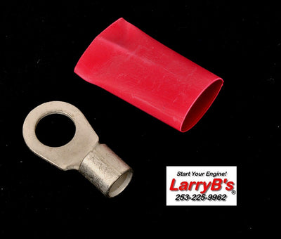 "LarryB's  Pos Wire Repair End for Dodge Diesel, Crimp and/or Solder, 6 AWG x 3/8""."