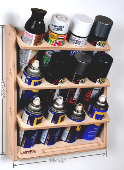 12 Can Spray Paint or Lube Can Wall Mount Storage Holder Rack