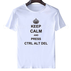 6e381d83 New Summer Funny Tech Support Geek T Shirts Men Joke GIFT T-shirts Short  Sleeve