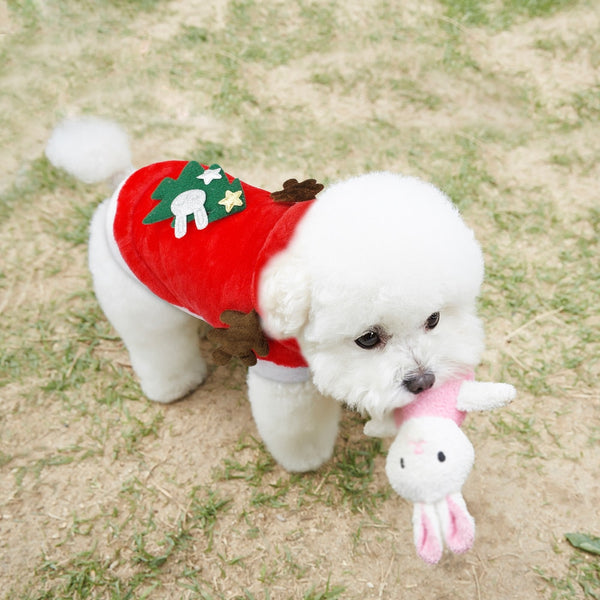 Christmas Cat Dog Clothes Santa Costume