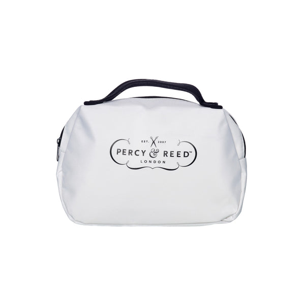Percy & Reed Small White Beauty Bag