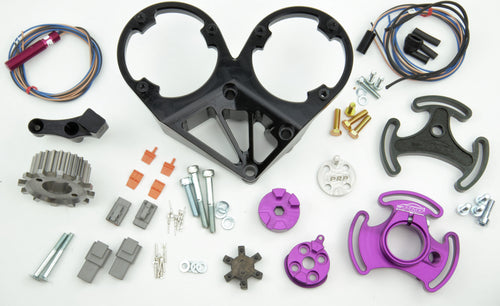 PLATINUM RACING PRODUCTS - RB Series Mechanical Fuel Pump Bracket with Full Trigger Kit With DOUBLE CAS Bracket