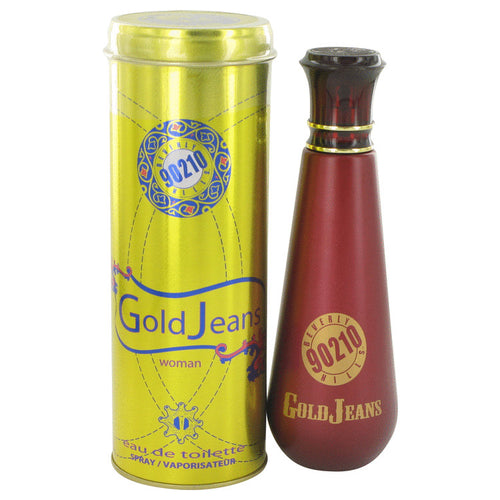 90210 Gold Jeans Eau De Toilette Spray By Torand 3.4 oz Eau De Toilette Spray