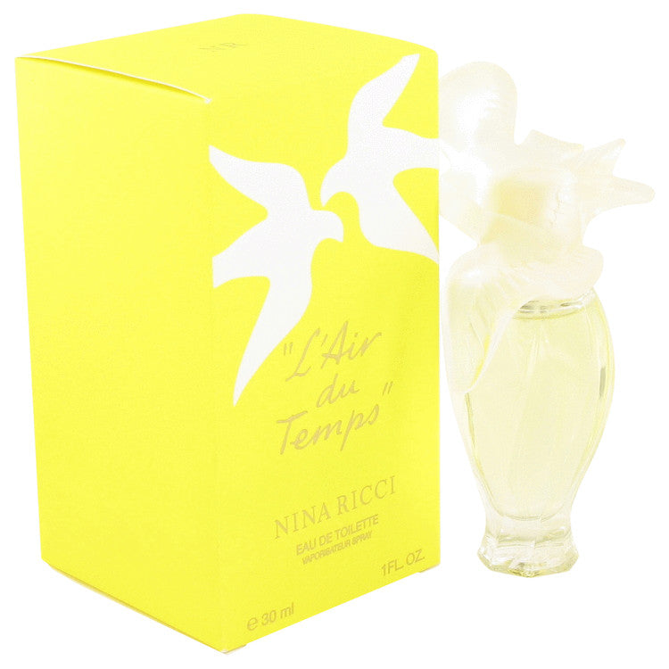 L'air Du Temps Eau De Toilette Spray with Bird Cap By Nina Ricci 1 oz Eau De Toilette Spray with Bird Cap