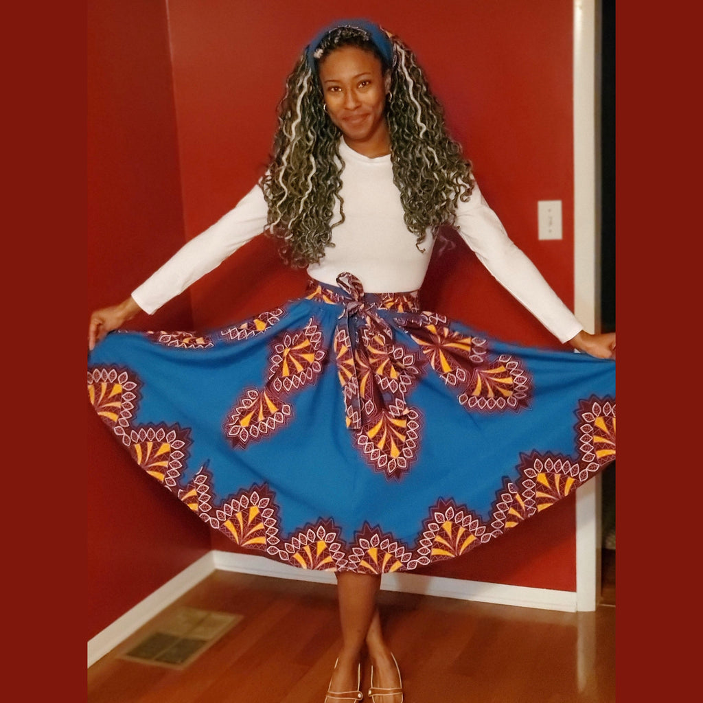 Ankara Maxi Skirt (short)
