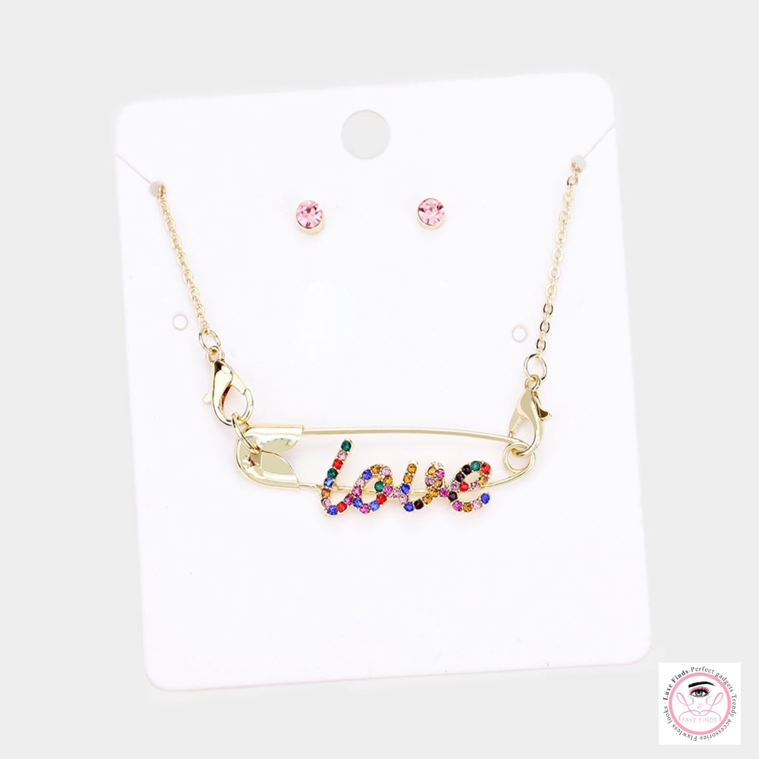 Love Rhinestone Necklace