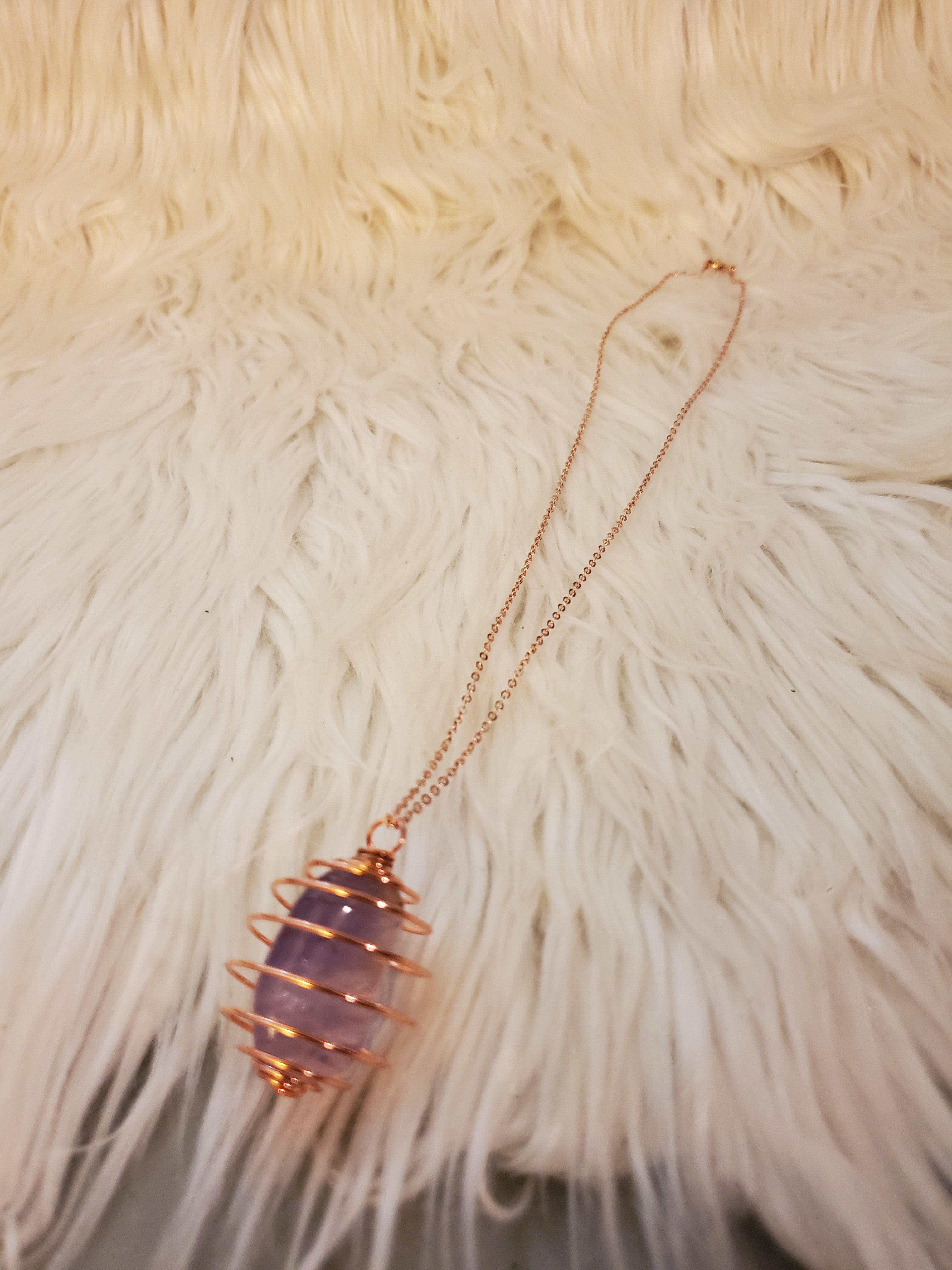 Crystal Healing Necklace (Amethyst)