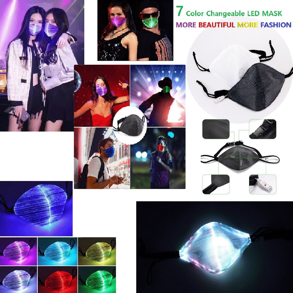 LED Light Up Glow Face Masks Pre-Sale