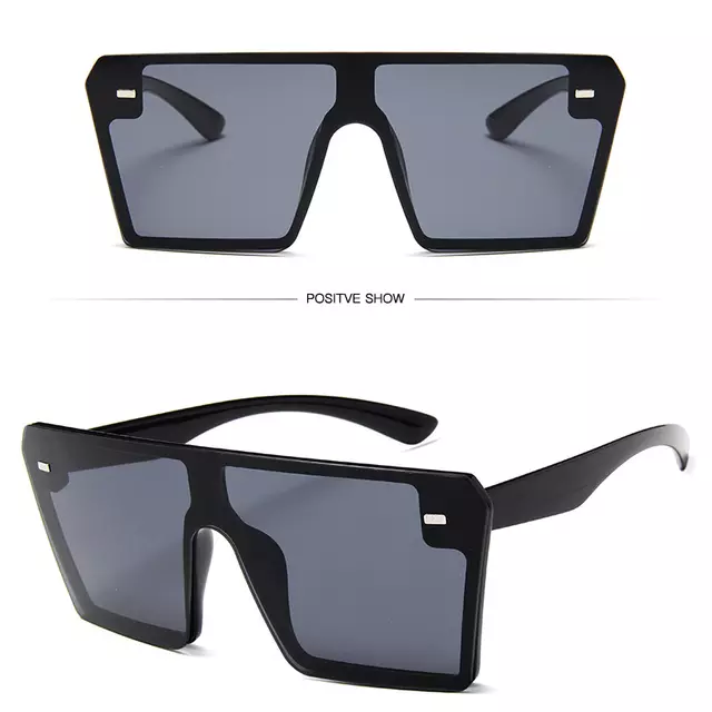 Big Frame Oversized Black Sunglasses
