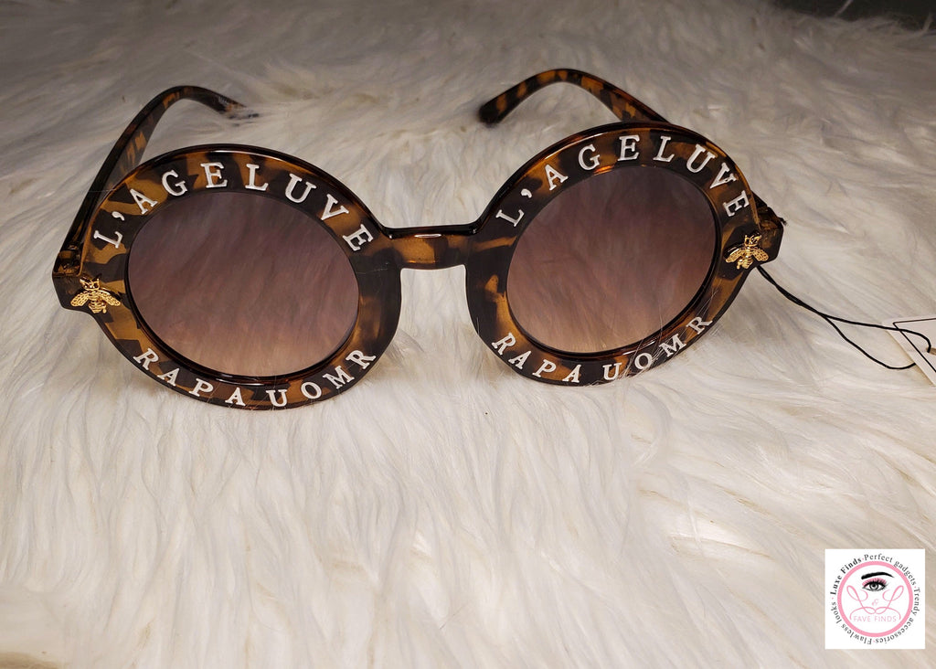 Leopard Round Retro Sunglasses