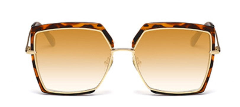 Square Oversized Leopard Sunglasses