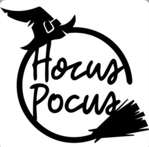 Hocus Pocus Metal Halloween Decor Sign