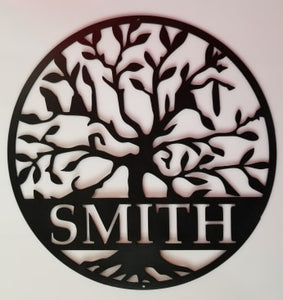 Family Tree Custom Name - Woodpost Metalworks