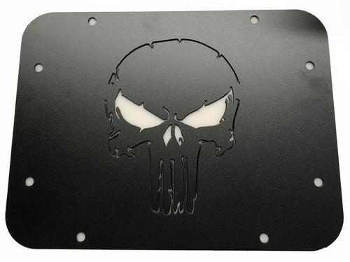 Jeep Spare Tire Delete Plate with Punisher Skull for 2007-2018 Jeep Wrangler