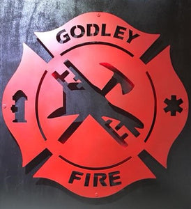 Fire Rescue Maltese Cross Custom City - Woodpost Metalworks